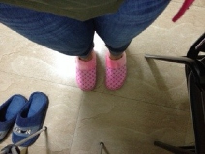 These are the awesome slippers I teach in.
