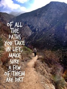 of all the paths you take