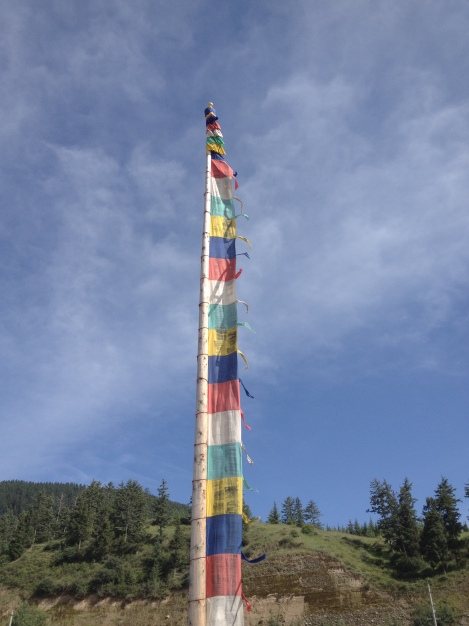 prayer flags in china