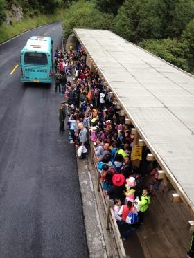 Juizhaigou's crowds