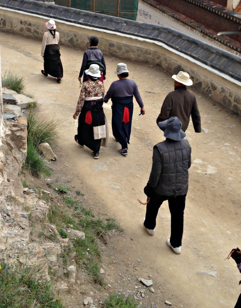 Tibetans walking the Kora